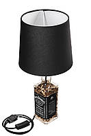 Лампа в бутылке с гильзами 9мм