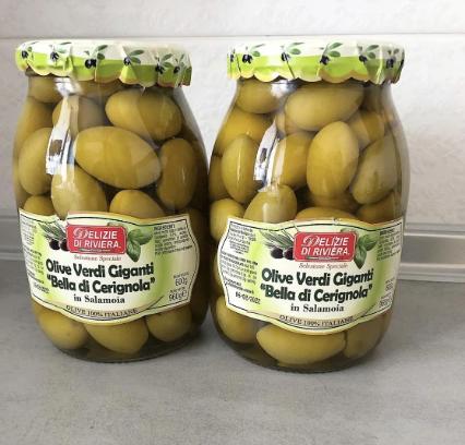 Оливки Di Riviera гігантські з кісточкою 1 літр