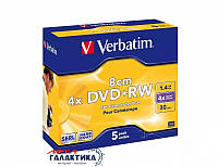 Диск DVD+RW Verbatim Hardcoated 1.4GB 4x (43594)