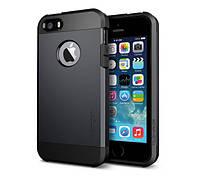 Противоударный бампер Spigen для Apple iPhone 5/5S/5SE Black