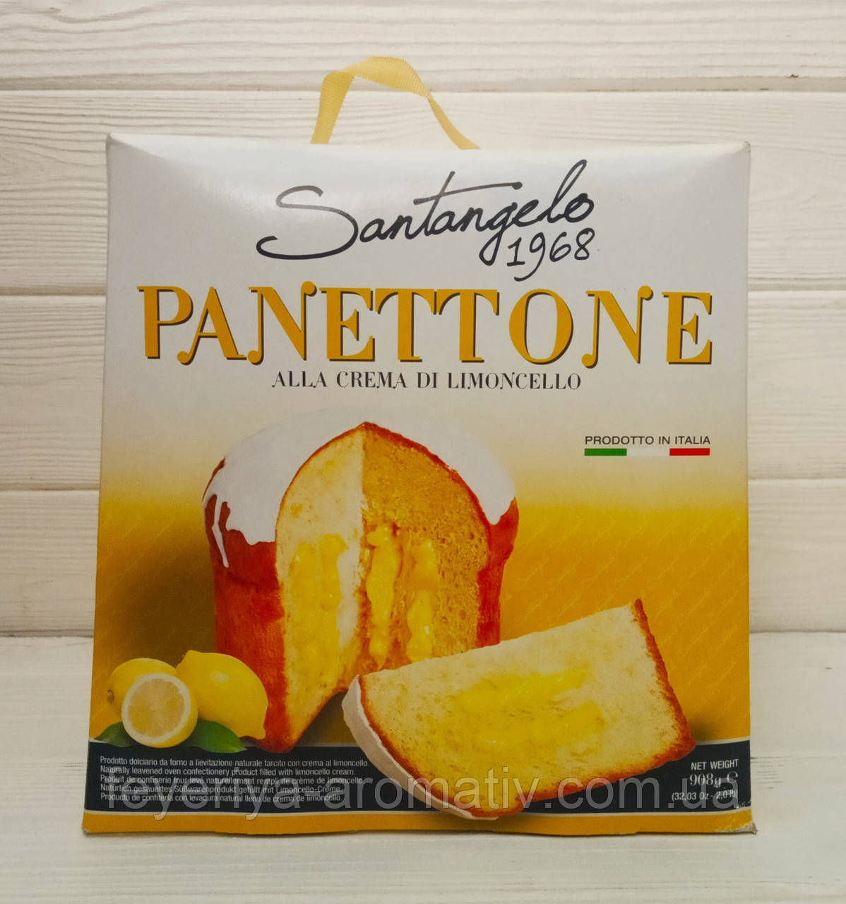 Пирог с лимонной начинкой панеттоне Santangelo Panettone, 908гр (Италия)