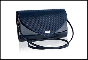 Сумка женская бренд Betlewski  экокожа Польша, синяя