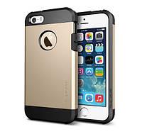 Противоударный бампер Spigen для Apple iPhone 5/5S/5SE Gold