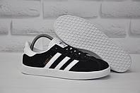 Подростковые черные кеды/криперы в стиле Adidas gazelle (размеры:37,38,39,40,41)