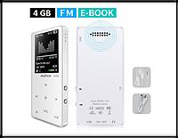 MP3 Плеер Mahdi M320 4Gb, 80 часов работы без подзарядки, белый, фото 1