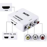 Адаптер HDMI to AV RCA тюльпан переходник конвертер HDMI2AV, фото 2