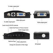 Конвертер S-Video BNC to VGA адаптер преобразователь, фото 3