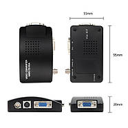 Конвертер S-Video BNC to VGA адаптер преобразователь, фото 5