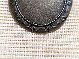 Основа для брошки Сеттінг овальна 50х40 мм Бронза під кабошон 40х30 мм, фото 3