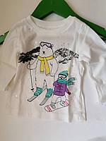 Очень красивая футболка для малышки, для девочки carter's, размер 9 М