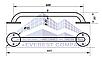 Поручень для инвалидов  прямой, Ø 20мм - 600мм, фото 2