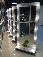 Зеркало с лампами, гримерное зеркало с подсветкой