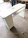 Маникюрный стол с стеклянной столешницей и мощной вытяжкой, белый., фото 9