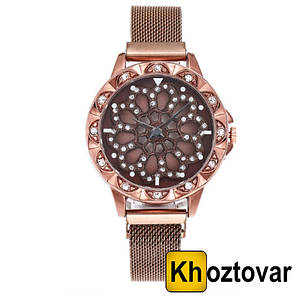 Женские часы с вращающимся циферблатом Chanel Flower Diamond Rotation Watch