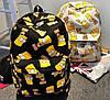 Стильный рюкзак Симпсоны Bart ! в Наличии белый Оригинал ,высококачественный,  фабричный!