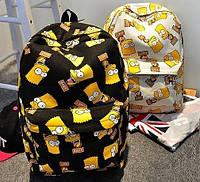 Стильный рюкзак Симпсоны Bart ! в Наличии белый Оригинал ,высококачественный,  фабричный!, фото 1