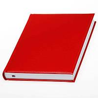 Ежедневник 'Небраска' от Lediberg красный производства Италии, недатированный, под тиснение логотипа, фото 1