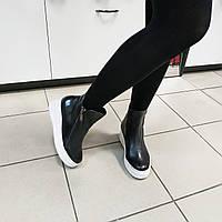 Ботинки женские черные на белой подошве кожа Gerry Weber, 37