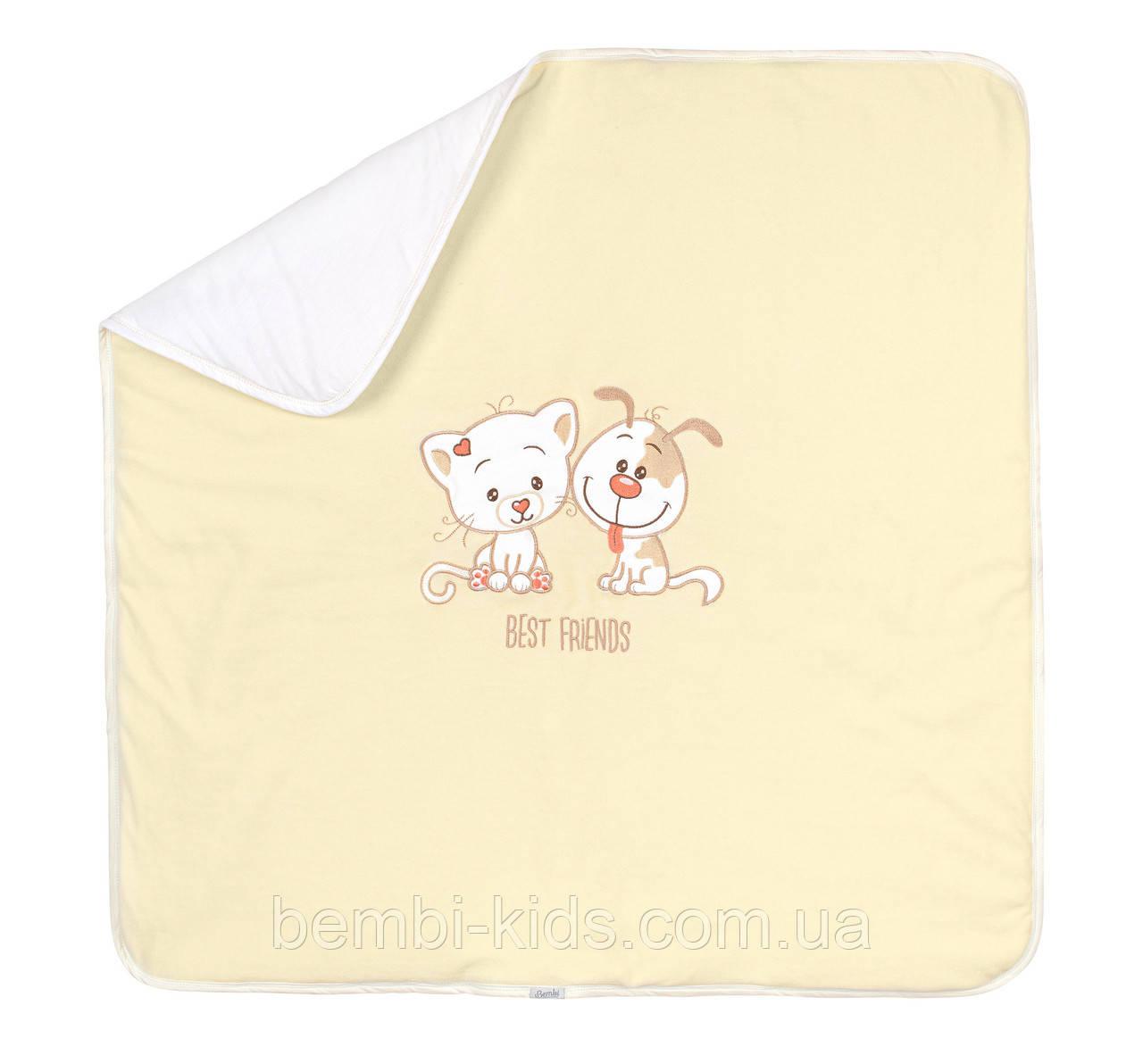 ОД14. Детское велюровое одеяло. Размер 90*90
