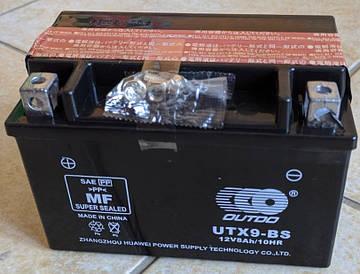 Мото аккумулятор Outdo AGM UTX9-BS 6мтс 8