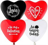 Воздушные шарики сердца, 10 шт