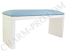 Маникюрная подставка для рук (Подлокотник) Голубой на белых ножках
