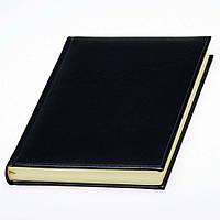 Ежедневник 'Небраска' с кремовой бумагой от Lediberg черный, недатированный, под тиснение логотип, фото 1