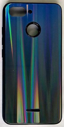 """Силіконовий чохол """"Скляний Shine Gradient"""" Xiaomi Redmi 6 (Deep Blue) #10, фото 2"""
