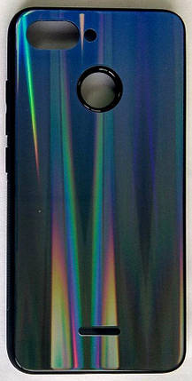 """Силиконовый чехол """"Стеклянный Shine Gradient"""" Xiaomi Redmi 6 (Deep Blue) # 10, фото 2"""