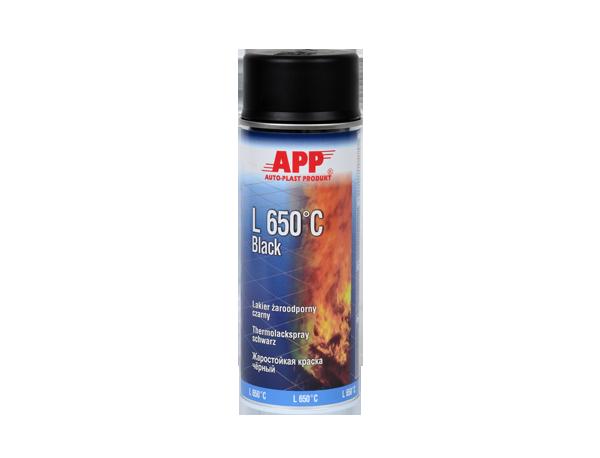 Краска термостойкая APP L 650°С, 400 мл Аэрозоль, Черная