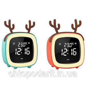Умные часы будильник ночник Код 13-7778