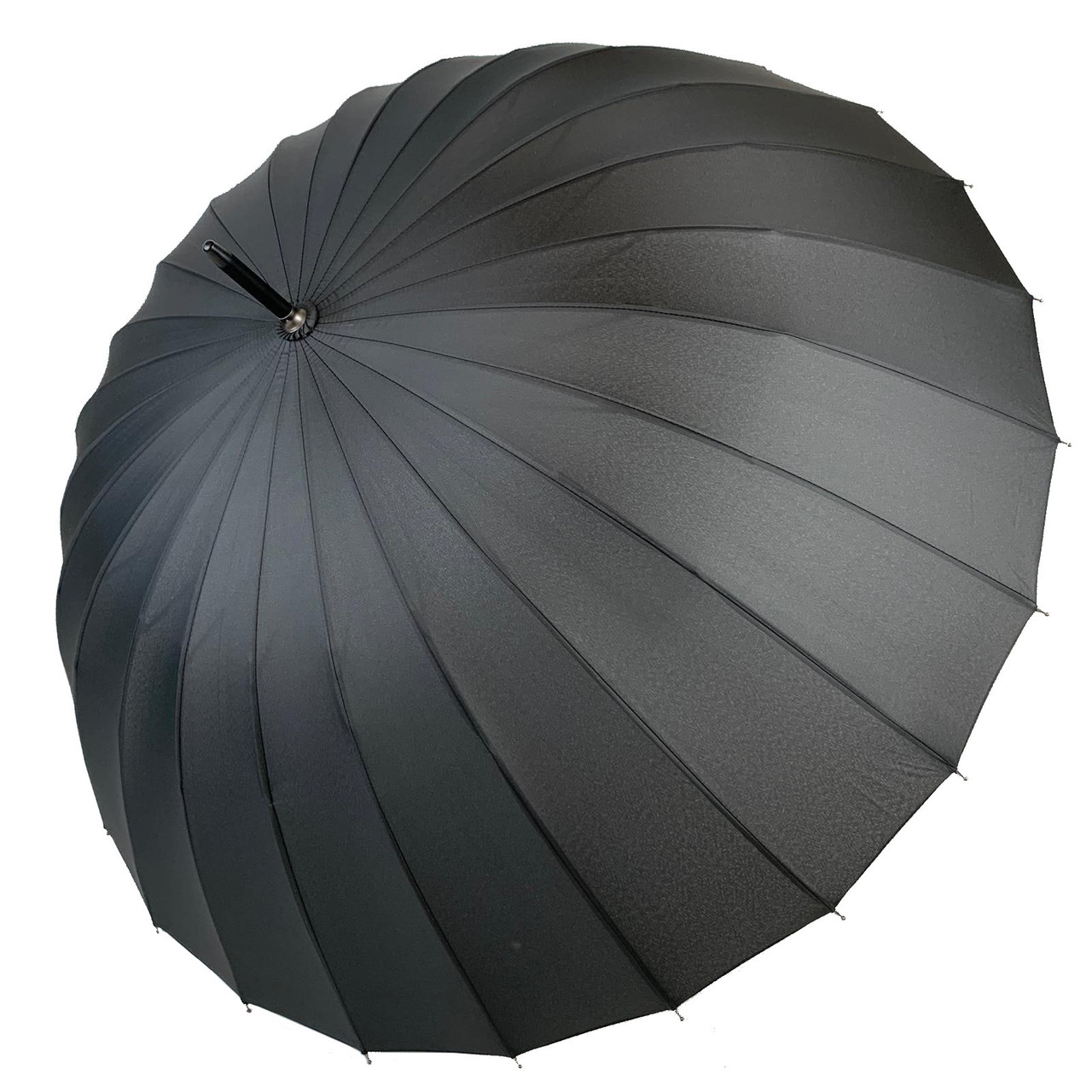 Механічний чоловічий парасольку-тростину на 24 спиці від MAX, чорний, 611-1