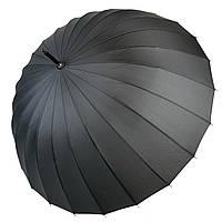 Механічний чоловічий парасольку-тростину на 24 спиці від MAX, чорний, 611-1, фото 1