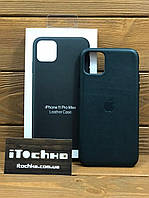 Чехол для iPhone Apple iPhone 11 Pro Max Leather Case Forest Green