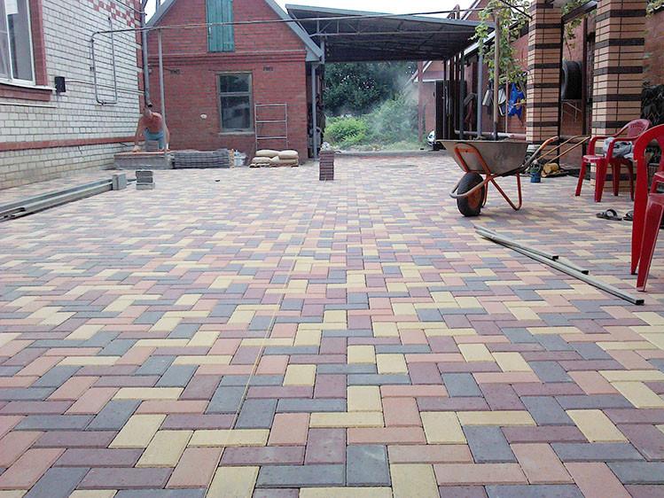 Тротуарная плитка Брусчатка коричневая