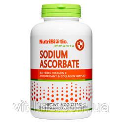 Аскорбат натрия, буферизованный витамин C  в порошке 227 г, NutriBiotic
