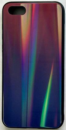 """Силиконовый чехол """"Стеклянный Shine Gradient"""" Huawei Y5 2018 (Violet barca) # 8, фото 2"""