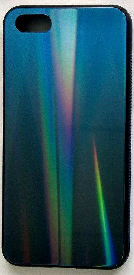 """Силиконовый чехол """"Стеклянный Shine Gradient"""" Huawei Y5 2018 (Deep blue) # 10"""