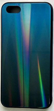 """Силиконовый чехол """"Стеклянный Shine Gradient"""" Huawei Y5 2018 (Deep blue) # 10, фото 2"""