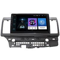 "Штатная магнитола для авто Mitsubishi Lancer X (2007-2017 г.) экран 10.1"" 4х50Вт память 2/32 1080P GPS Wi Fi"