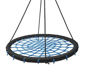 Гойдалки гніздо лелеки Lux 120 см. Синій, фото 2