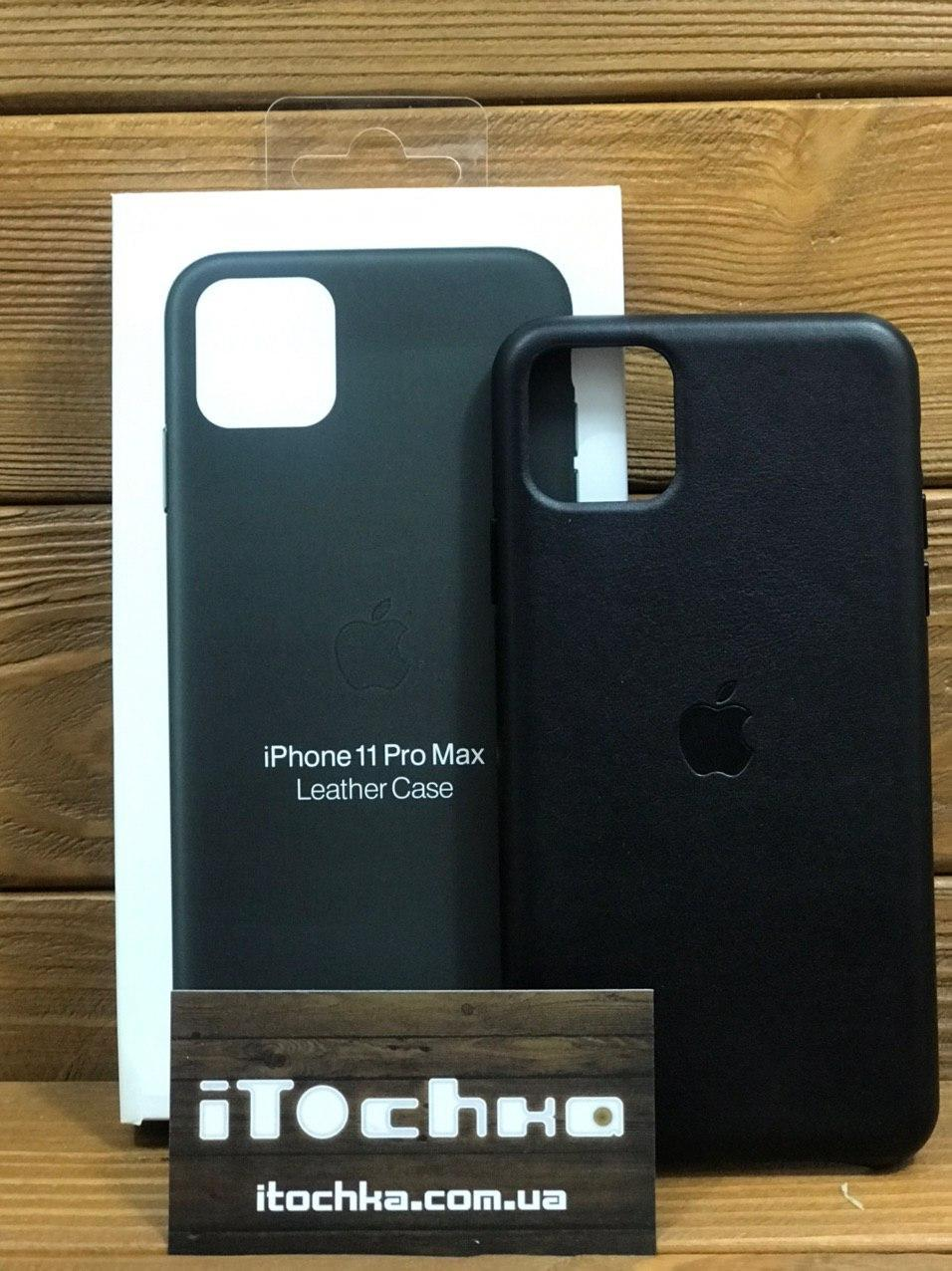 Чехол для iPhone Apple iPhone 11 Pro Max Leather Case Black