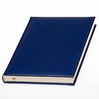 Ежедневник с кремовой бумагой от Lediberg ярко-синий, датированный на 2022 , под тиснение логотипа, фото 1