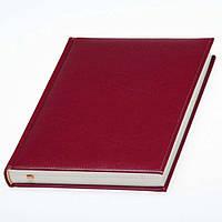 Ежедневник 'Небраска' с кремовой бумагой от Lediberg бордо, датированный на 2019г., под тиснение логотипа, фото 1