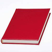 Ежедневник 'Небраска' красный датированный, кремовый блок, фото 1