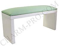 Маникюрная подставка для рук (Подлокотник) Зеленый на белых ножках