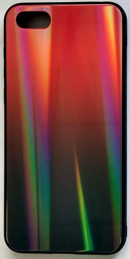 """Силіконовий чохол """"Скляний Shine Gradient"""" iPhone XR (Ruby red) #16"""