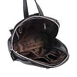 Рюкзак женский черный кожаный М260black молодежный из натуральной кожи, фото 5