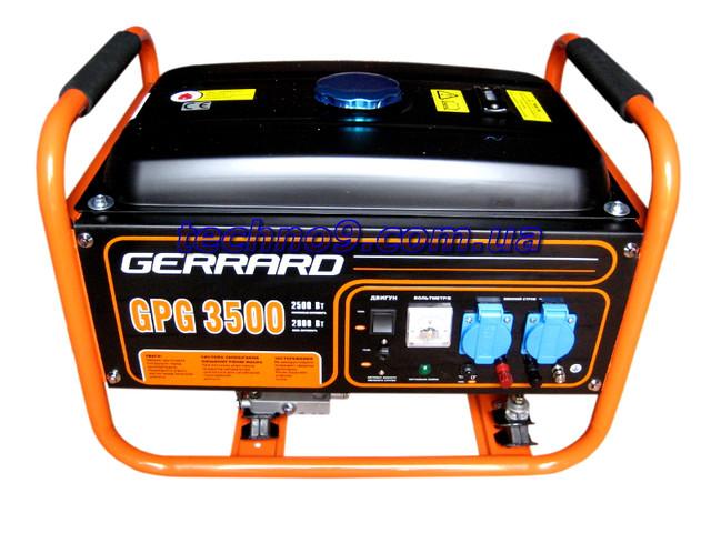 Бензиновый генератор GERRARD GPG3500, GERRARD GP G3500, GERRARD GPG, GERRARD 3500, GERRARD3500, Жеррард GPG 3500