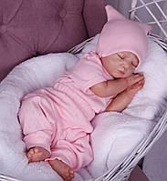 Набір для новонародженого 3 предмета Ніжність рожевий, фото 1